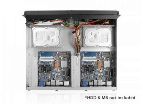 iSTAR Industrial grade 2U chassis for DUAL MINI-ITX system
